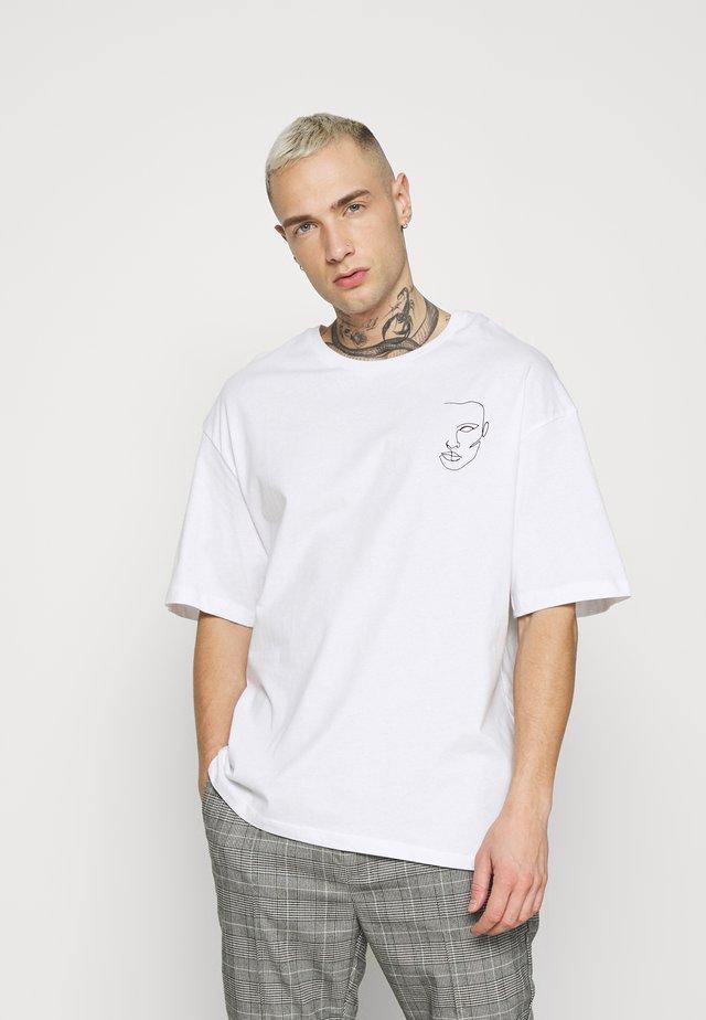 JORJACE TEE CREW NECK - T-shirt imprimé - white