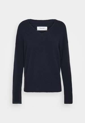LONG SLEEVE V NECK - Stickad tröja - scandinavian blue