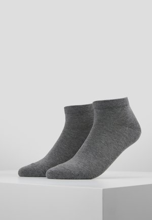 Happy 2-Pack Sneakersocks - Sukat - light grey melange