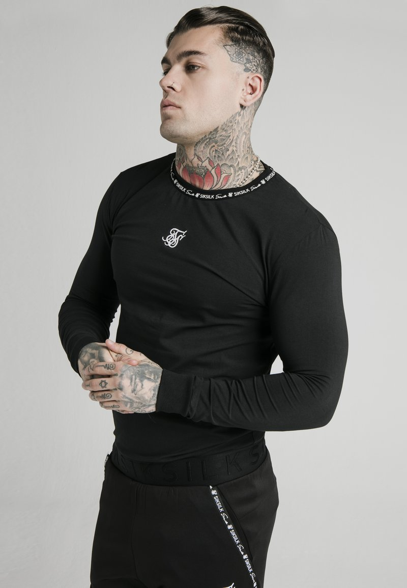 SIKSILK - GYM TEE - Camiseta de manga larga - black