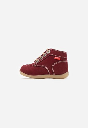 BONZIP - Baby shoes - bordeaux/beige