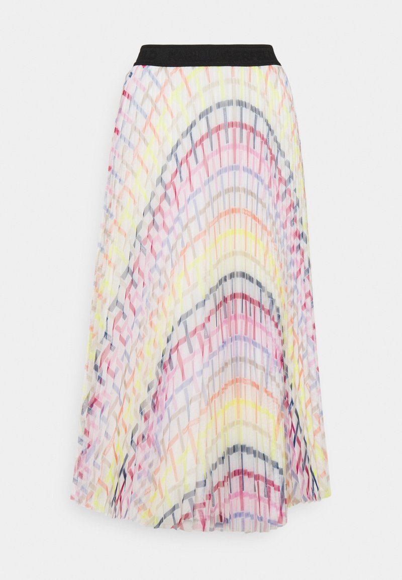 KARL LAGERFELD - PRINTED PLEAT SKIRT - A-Linien-Rock - multi-coloured