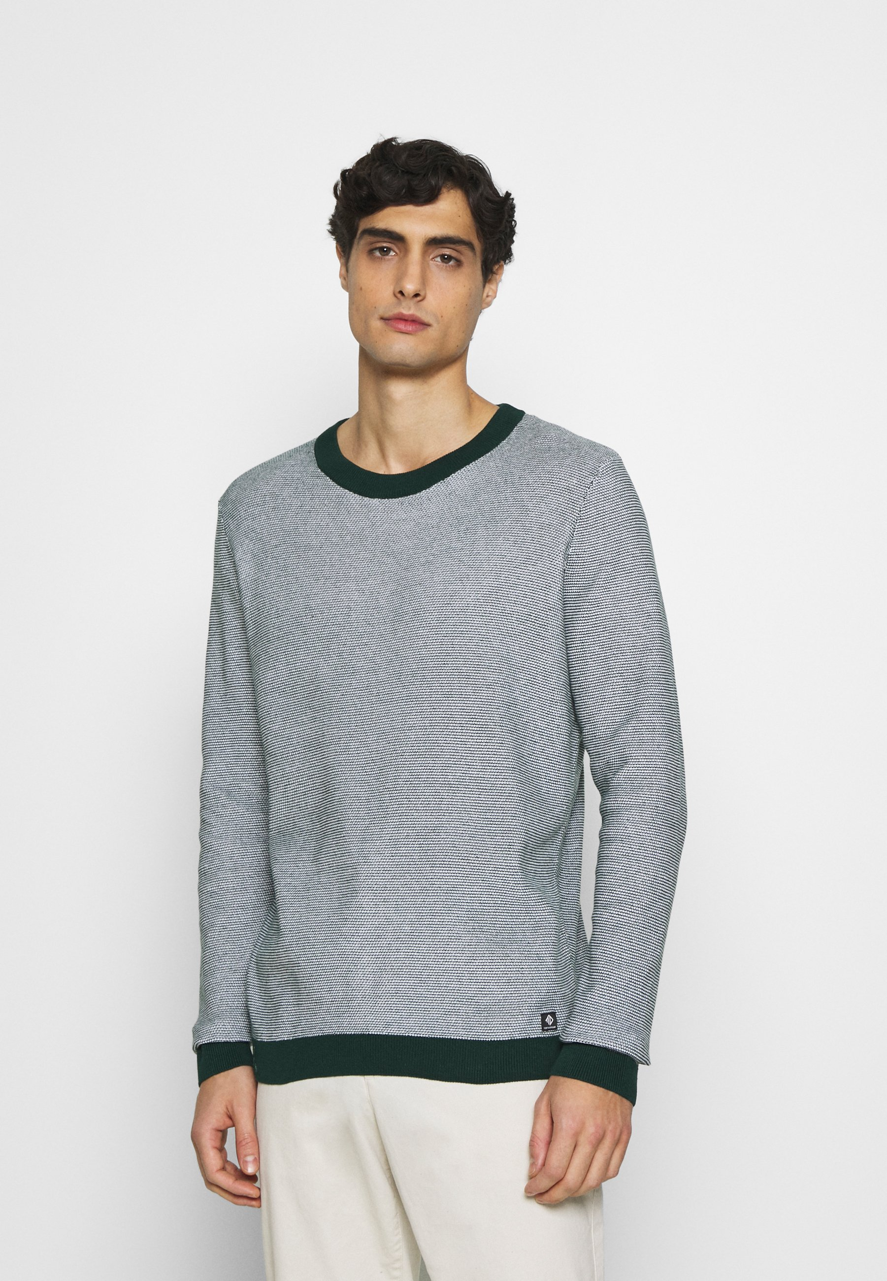 Homme CREWNECK - Pullover - green/white