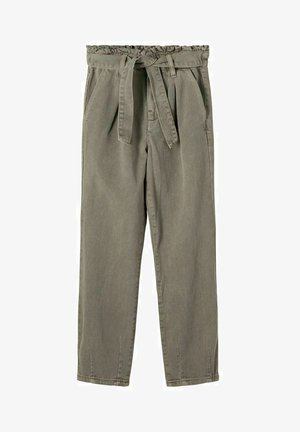 Trousers - artichoke green
