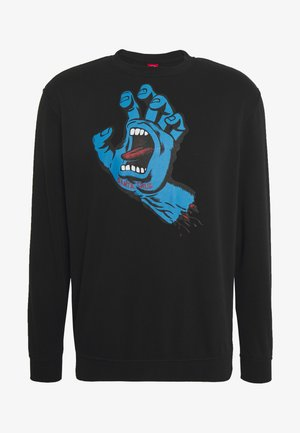 unisex Screaming hand - Sweatshirt - black