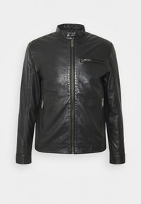Selected Homme - SLHICONIC CLASSIC - Giacca di pelle - black - 6