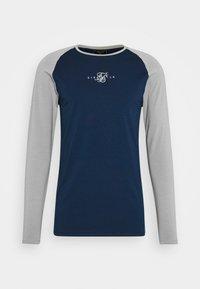 SIKSILK - SQUARE HEM TEE - Camiseta de manga larga - grey/navy - 3