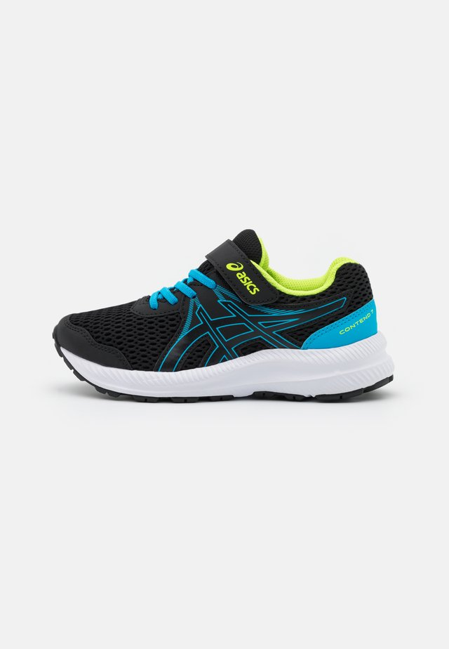 CONTEND 7 UNISEX - Neutral running shoes - black/digital aqua