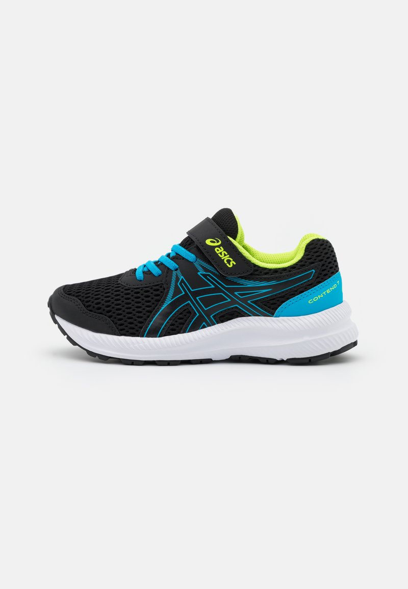 ASICS - CONTEND 7 UNISEX - Laufschuh Neutral - black/digital aqua