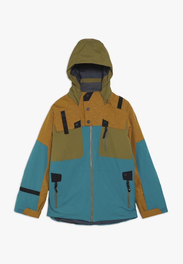 BOYS TORDRILLO - Ski jacket - turquoise/camel