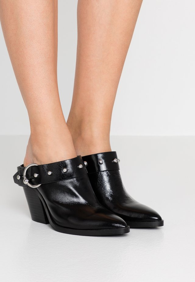 SALLEST - Heeled mules - black