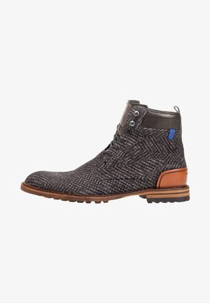 Lace-up ankle boots - darkgrey