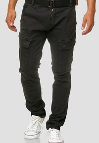 INDICODE JEANS - RAYANE - Cargo trousers - black - 0