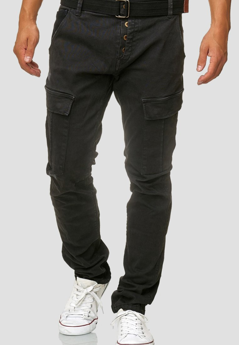 INDICODE JEANS - RAYANE - Cargo trousers - black