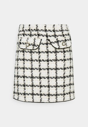SUPPER CLUB SKIRT - Mini skirt - ivory