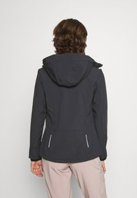 CMP - WOMAN JACKET ZIP HOOD - Giacca softshell - antracite/pink fluo - 2