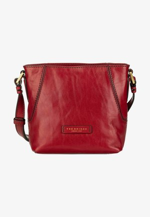 CATERINA - Across body bag - ribes rosso/oro