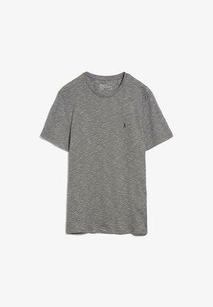 JAAMES STRUCTURE - Basic T-shirt - acid black snow white