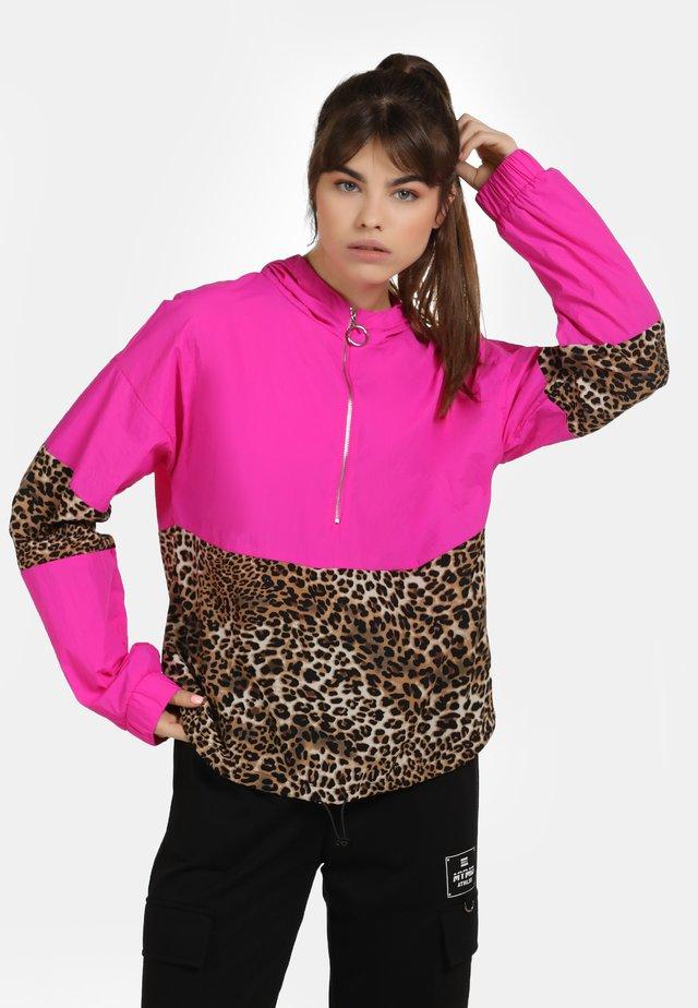 Windjack - pink/beige