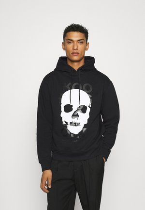 HOODIE WITH SMALL SKULL - Sweatshirt - black