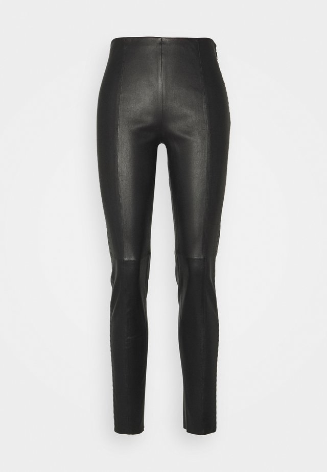 LUXURY ROCKSTAR PANTS - Pantalon en cuir - black