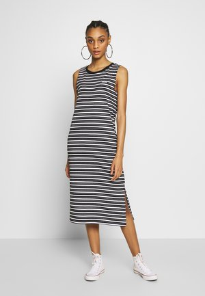 MINI CHECK MIDI DRESS - Korte jurk - black