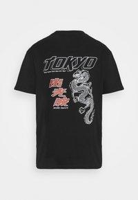 Nominal - TOKYO TEE - Printtipaita - black - 7
