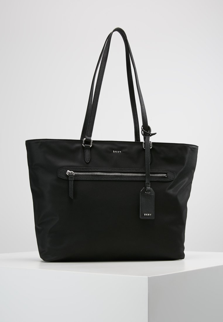 DKNY - CASEY LARGE TOTE - Shopping bags - black