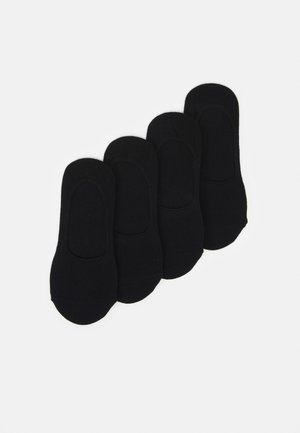 PCGILLY FOOTIES 4 PACK - Enkelsokken - black