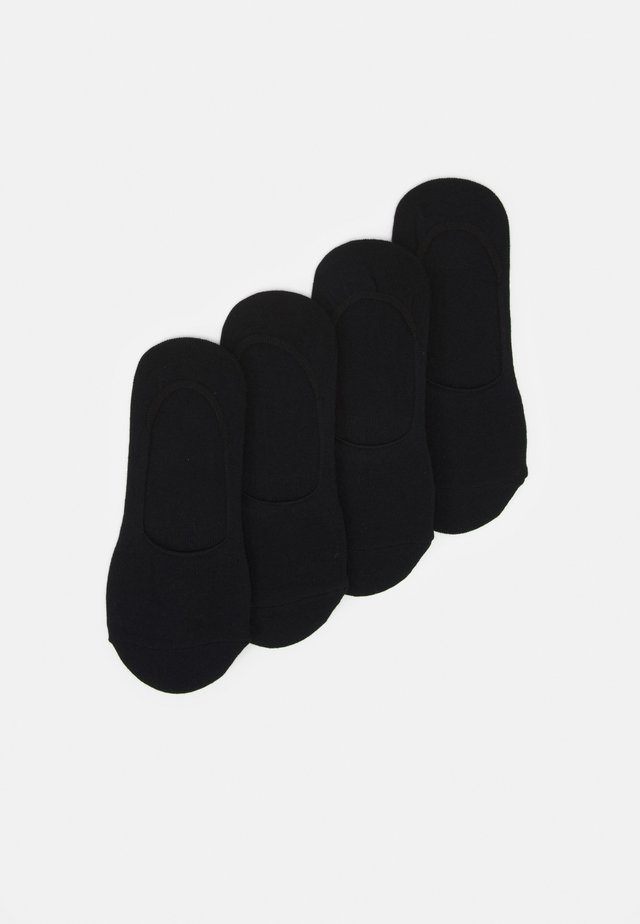 PCGILLY FOOTIES 4 PACK - Socquettes - black