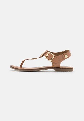 TALLY - T-bar sandals - tan