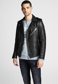 Royal Denim Division by Jack & Jones - Leather jacket - black - 0