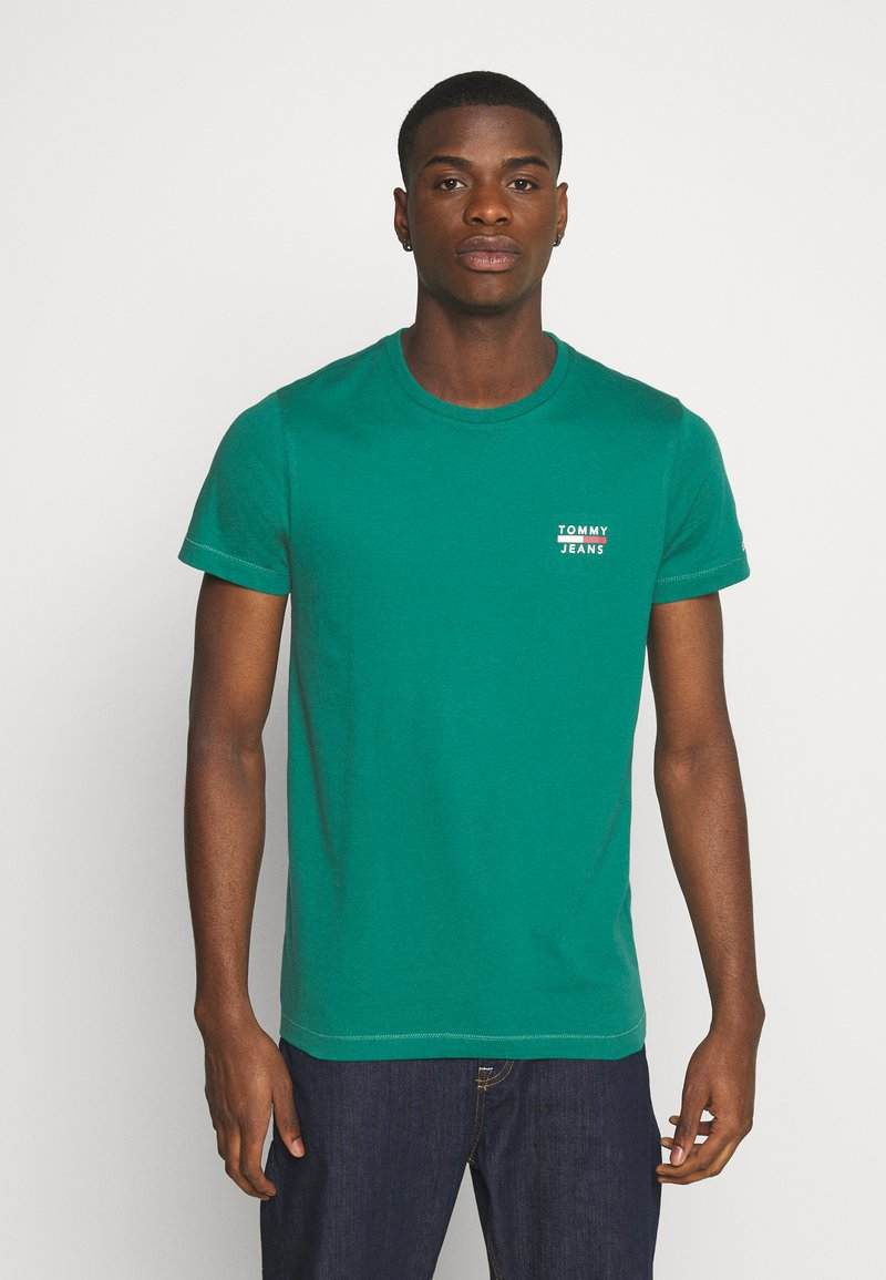 Tommy Jeans - CHEST LOGO TEE - T-shirt con stampa - midwest green