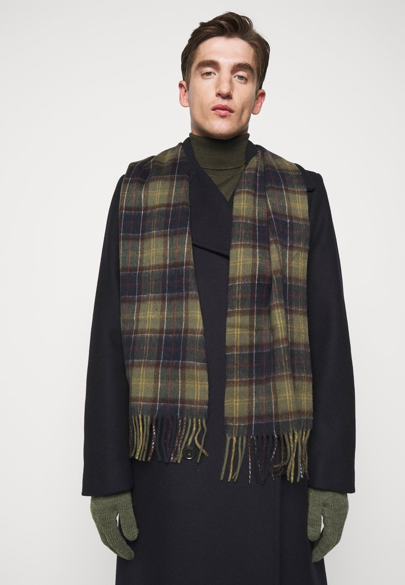 Barbour - TARTAN SCARF AND GLOVE GIFT SET UNISEX - Scarf - classic/olive