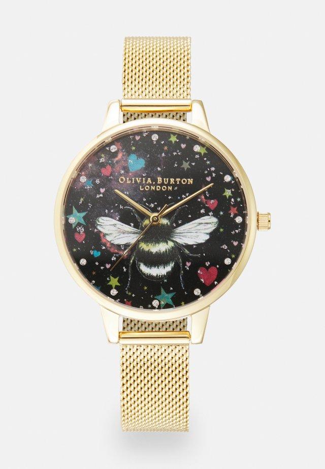 NIGHT GARDEN - Horloge - gold-coloured/black