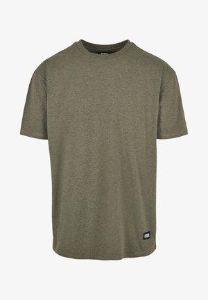 Basic T-shirt - darkgreen melange