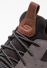 Skechers - DELSON - Slip-ons - black/grey - 5