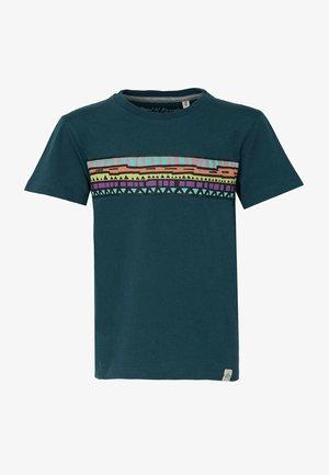 Print T-shirt - dark-petrol