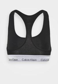 Calvin Klein Underwear - MODERN UNLINED BRALETTE/THONG - Bustier - black/silver - 2
