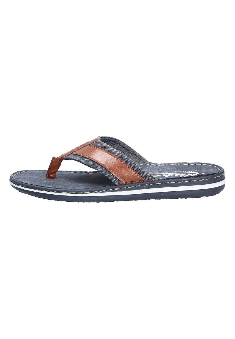 Rieker - MODISCHE PANTOLETTE - T-bar sandals - peanutnavy (24)
