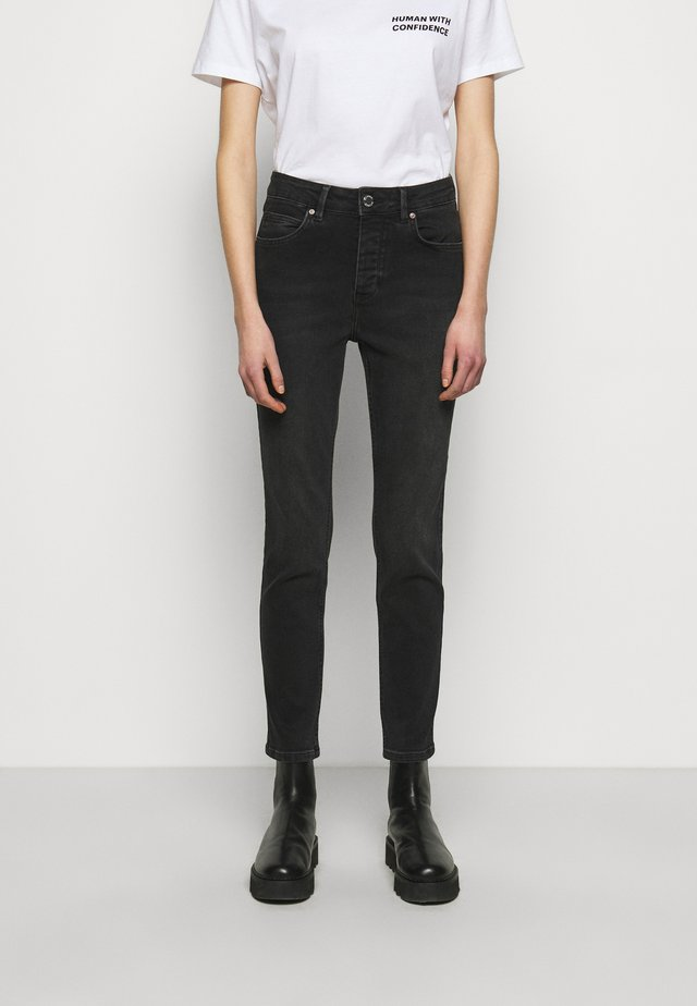 2ND RIGGIS THINK TWICE - Jeans straight leg - black