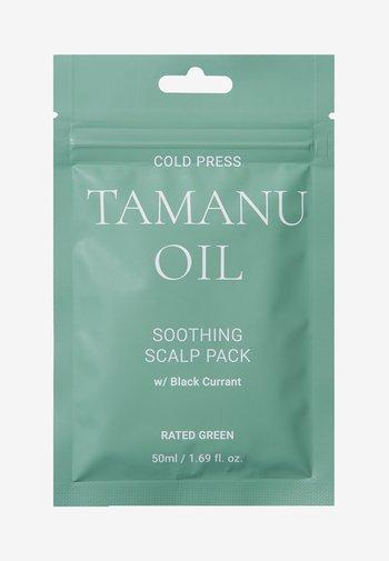 COLD PRESS TAMARU OIL SOOTHING SCALP PACK W/ BLACK 2 PACK - Hair set - -