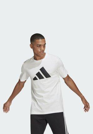 BADGE OF SPORT - Camiseta estampada - white