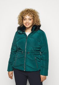 CAPSULE by Simply Be - LUXE HOODED SHORT PADDED COAT - Talvitakki - forest green - 0