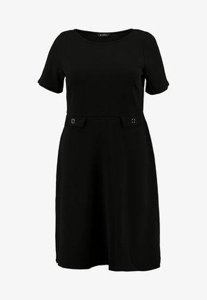 FIT AND FLARE DRESS - Denní šaty - black