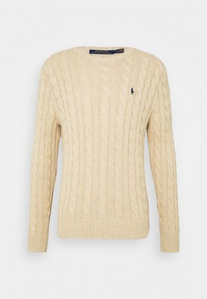CABLE - Strikpullover /Striktrøjer - oatmeal heather