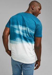 Esprit - FASHION SLUB - Print T-shirt - petrol blue - 5
