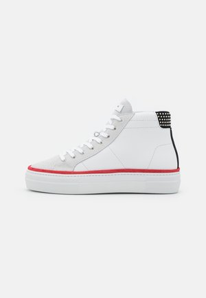 SHOES - Zapatillas altas - white/grey/red