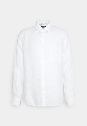 KENT COLLAR LONG SLEEVE INSERTED - Vapaa-ajan kauluspaita - white