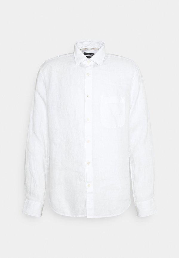 Marc O'Polo KENT COLLAR LONG SLEEVE INSERTED - Koszula - white/biały Odzież Męska ZZFC